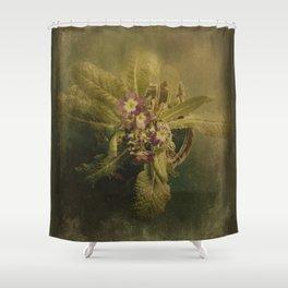 Little Winter Flower Shower Curtain