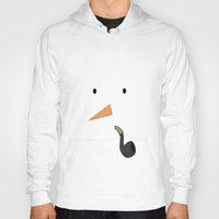 snowman Hoodies featuring Snowman by Sweet Colors Gallery