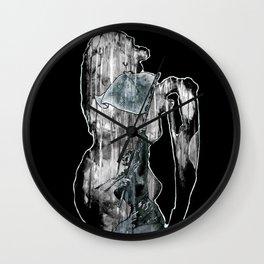 Telse van Kampen - lion version Wall Clock