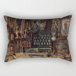The Chamber Of Count Lanckoronski Vienna 1881 by Rudolf von Alt | Reproduction Rectangular Pillow