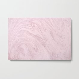 Pink Marble pattern Metal Print