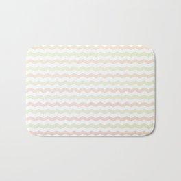 Flannelette Chevron Design Bath Mat