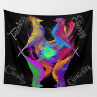 jay z Wall Tapestries featuring Psychedelic Jay by Rafael Maga