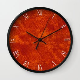 Rusty stained cloth sheet textured abstract Wall Clock