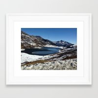 the mountains are calling Framed Art Prints featuring Mountains are calling by Adeela Abdul Razak