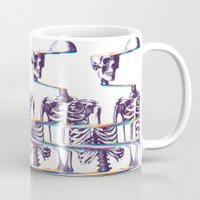 skeleton Mugs featuring Skeleton by Ali GULEC