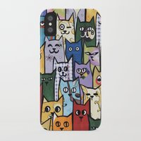 a lot of cats iPhone & iPod Cases featuring Cats a Lot by grrrenadine