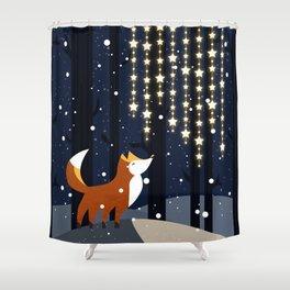 Fox and stars Shower Curtain