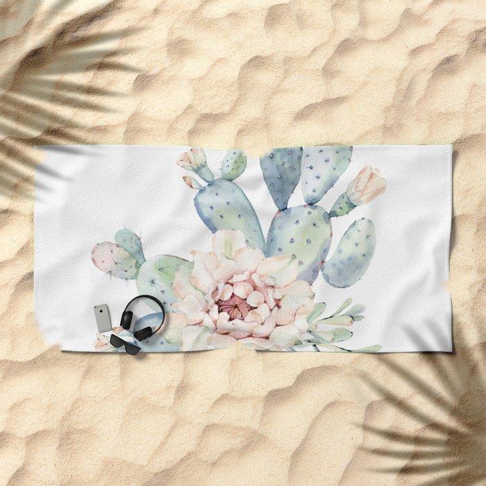 Perfect Cacti Rose Beach Towel