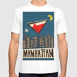 Manhattan Cocktail Print T-shirt