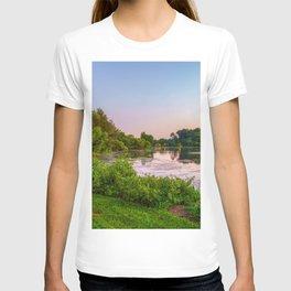 Picture USA Columbia Maryland Nature Lake Grass Bush Trees Shrubs T-shirt