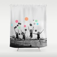 women Shower Curtains featuring Vintage Women by 83 Oranges™