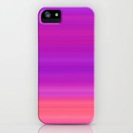 Orange & Purple Stripes   Bright ombre gradient pattern iPhone Case