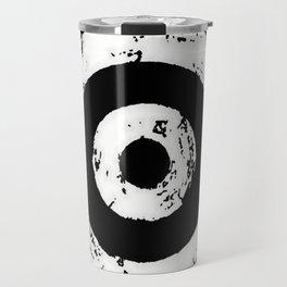 Black & White Target Travel Mug