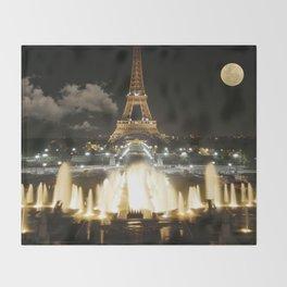 Eiffel Tower at Night Throw Blanket