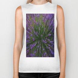 Lavender Field Of Dreams  Biker Tank