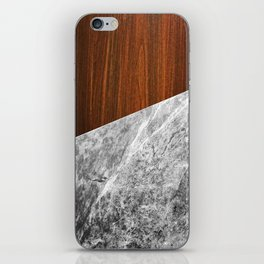 Wooden Marble iPhone Skin