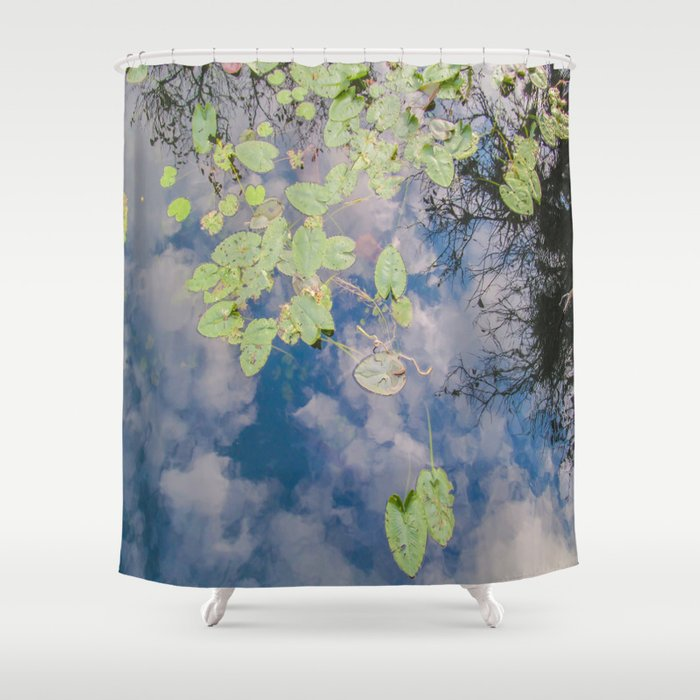 Looking Down or Looking Up Shower Curtain