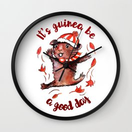Happy Guinea Pig Wall Clock