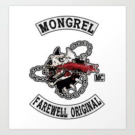 Mongrel Farewell Art Print