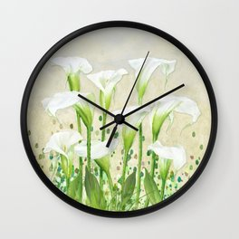 Calla Lily In White Wall Clock