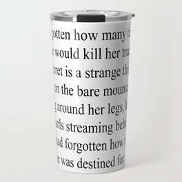 THE RAVEN CYCLE | THE FIRST SENTENCES Travel Mug