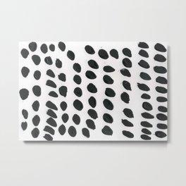 Black polka pattern Metal Print