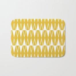 Mid Century Modern Diamond Pattern Mustard Yellow 234 Bath Mat