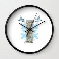 fairy tale Wall Clocks featuring Fairy Tale by VirgoSpice