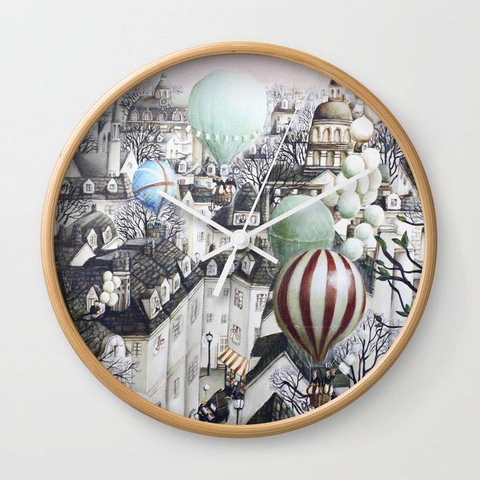 Balloon travel Wall Clock