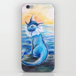 Vaporeon By The Sea At Dawn iPhone Skin