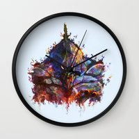 evangelion Wall Clocks featuring Evangelion by ururuty
