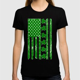 St Patricks Day Irish American Flag T-shirt