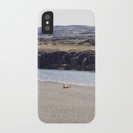 In the middle of nowhere, Iceland iPhone Case