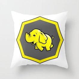 hadoop Stickers Elephant Programming Big data Sql  Developer Throw Pillow