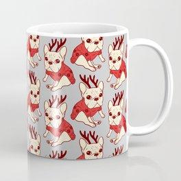 Cream Frenchie in Christmas Sweater Coffee Mug