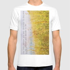 The Only Person MEDIUM Mens Fitted Tee White