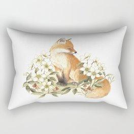 Springtime Fox Rectangular Pillow
