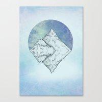 frozen Canvas Prints featuring Frozen by Holly Nekonam