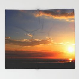 Sunset in the Bay Throw Blanket