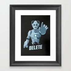 Nightmare in Silver (Cyberman) Framed Art Print