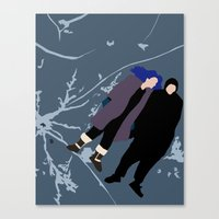 eternal sunshine of the spotless mind Canvas Prints featuring ETERNAL SUNSHINE OF THE SPOTLESS MIND by Amanda Voyce