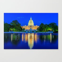 U.S. Capitol and Reflecting Pool Canvas Print