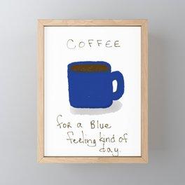 Blue Day Coffee Framed Mini Art Print