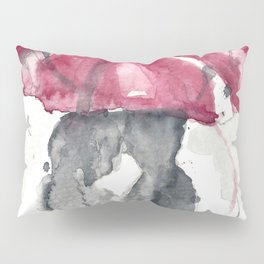 Romantic Rainy Couple Pillow Sham