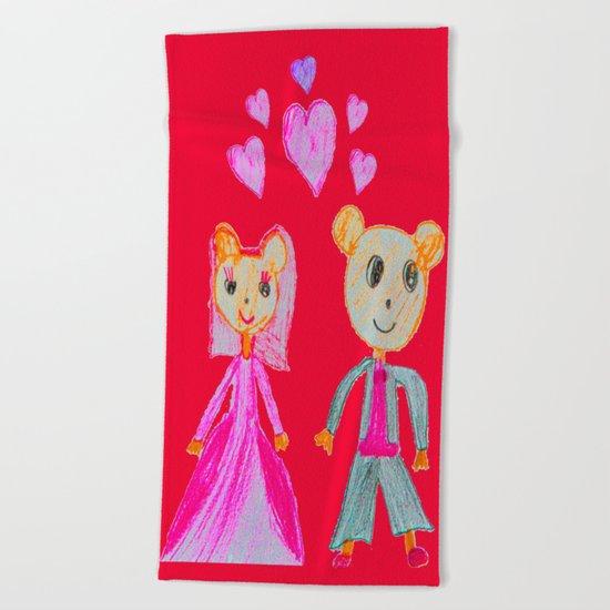 Simple Love | Kids Painting Beach Towel