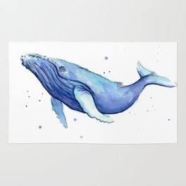 Nursery-Art-Print-Humpback-Whale-Watercolor-Painting-Sea-Creatures Rug