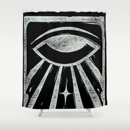 Clarity (Black) Shower Curtain