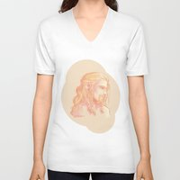 fili V-neck T-shirts featuring Fili ColorPalette by AlyTheKitten
