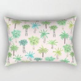 Watercolor Palm Trees Rectangular Pillow
